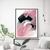 Blush Pink Decor - Pink & Black Abstract Printable Art - Modern Abstract Art -