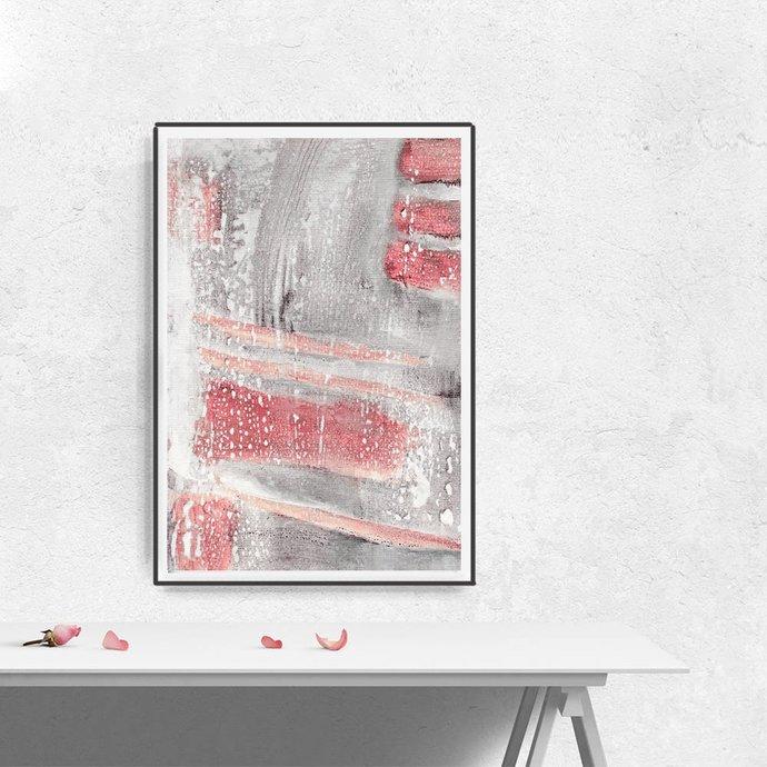 Abstract Art, Printable Abstract Art, Large Wall Art, Pink Print, Large Abstract