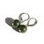 Jade Sterling Earrings Natural British Columbia Nephrite Jade B.C. Jade Green