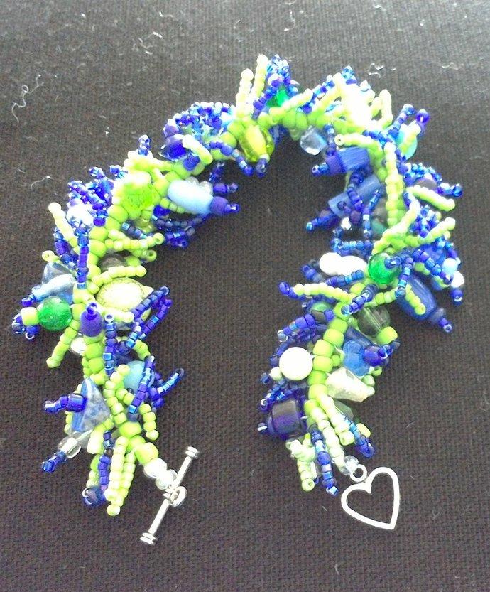 Bracelet Seattle Sea Hawk -Must have!!- Lime and Navy-ladies  medium