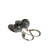 Larvikite Sterling Earrings Gray Grey Black Flashy Smooth Round Lever Back