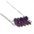 Amethyst Sterling Necklace Faceted Natural Stone Lightweight Necklace Sterling