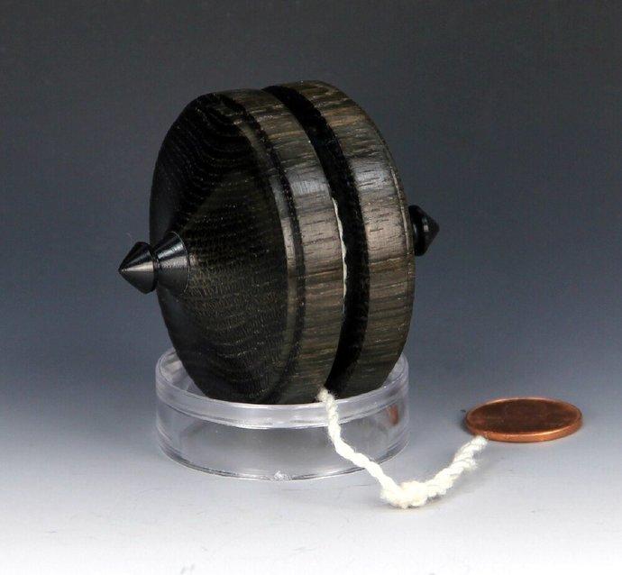 3,720 year old Russian Bog Oak Terror Top Yo-Yo, lathe turned in the USA - Rare