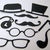 9pc Men's Glasses, Hat, Mustache, Pipe, Metal Cutting Die Set