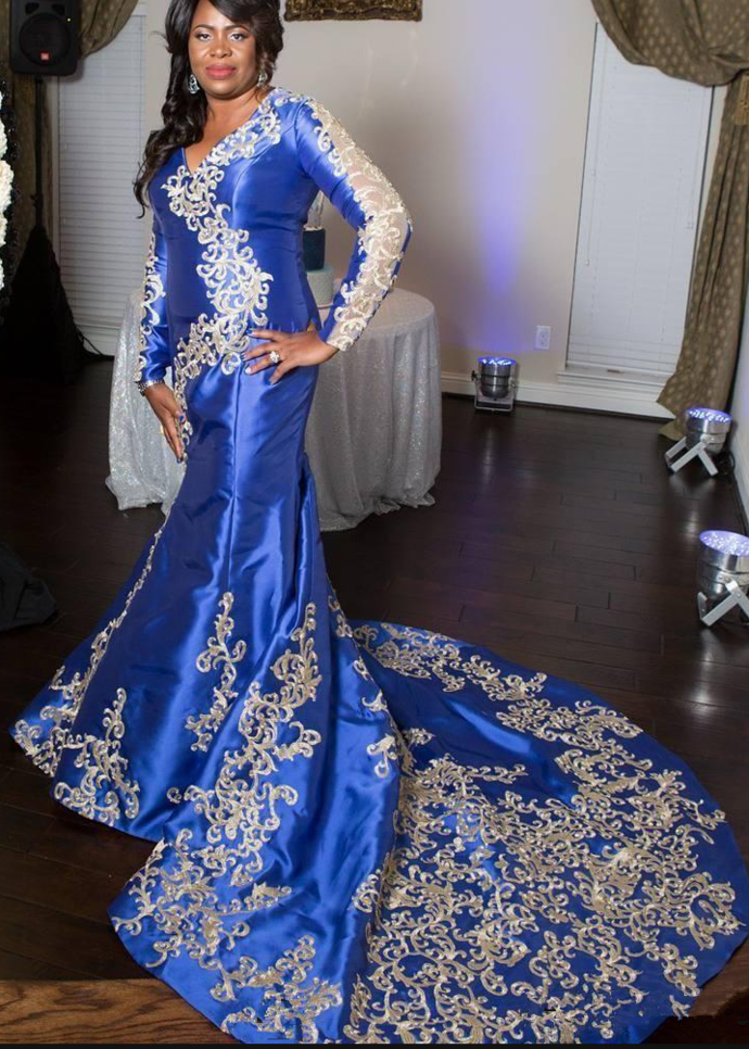 66a483685b7f South Africa Royal Blue Long Sleeve Prom By Prom Dresses On Zibbet