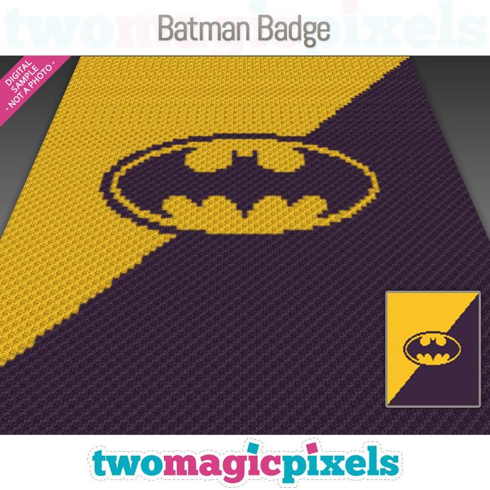 Batman Badge graph for crochet (C2C, Mini C2C, SC, HDC, DC, TSS), cross stitch,
