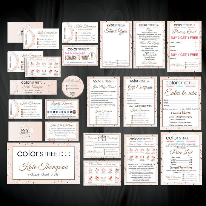 Color Street Marketing Package, Color Street Marketing Kit, Personalized Color