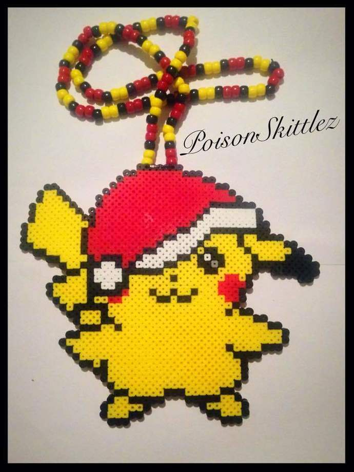 Christmas Pikachu Necklace Kandi