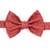"""Little Guy Bow Tie - Holiday Collection 2018 - Deep Red """"Linen"""" with Gold"""
