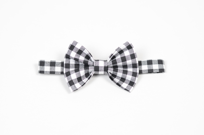 Little Guy Bow Tie - Holiday Collection 2018 - Black and White Gingham