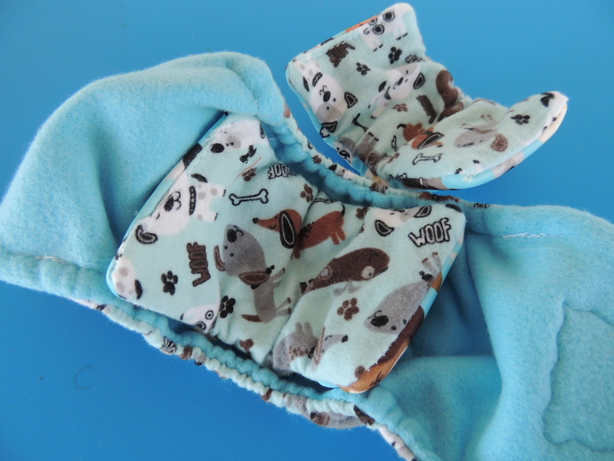 XS Soft Flannel Bellyband Dog Diaper and pads for males