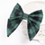 Jane Hair Clip - Holiday Collection 2018 - Green and Black Buffalo Plaid