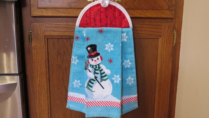 Christmas Kitchen Towel Snowman Dish By Crystalscraftycorner On Zibbet