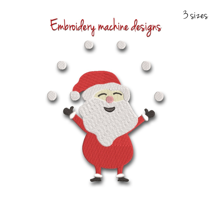 Santa Claus machine embroidery designs Christmas instant digital download