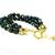 Green multistrand bracelet with large easy open clasp. Adjustable bracelet,