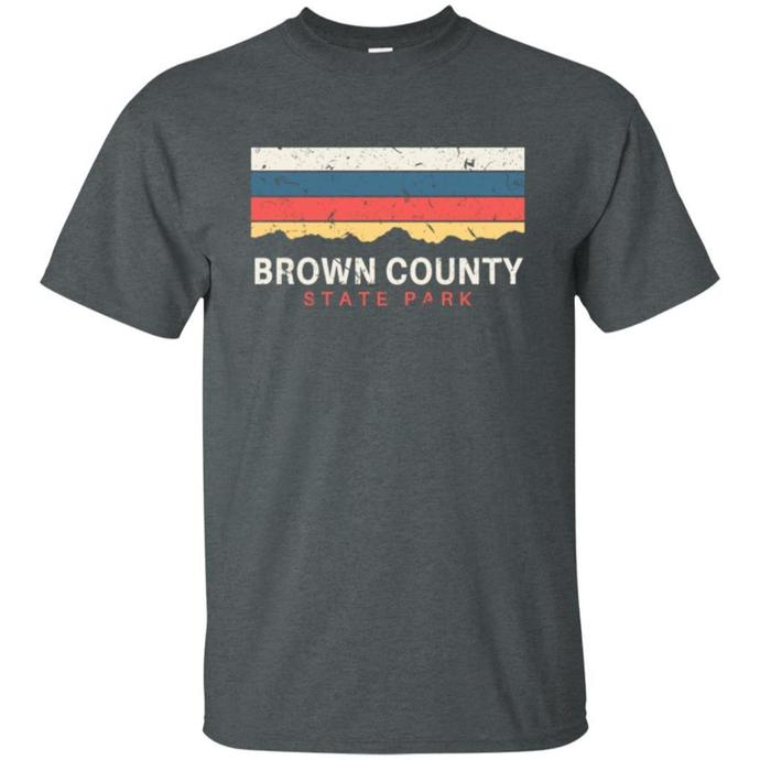 Brown Country State Park Indiana Retro Men T-shirt, Vintage T-shirt, Retro Men