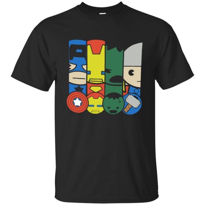 Marvel Kawaii Avengers Power Men T-shirt, Marvel Kawaii T-shirt, Avengers Power