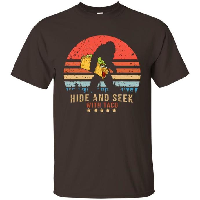 Hide And Seek Bigfoot, Believe Taco Retro Vintage Men T-shirt, Vintage  T-shirt,