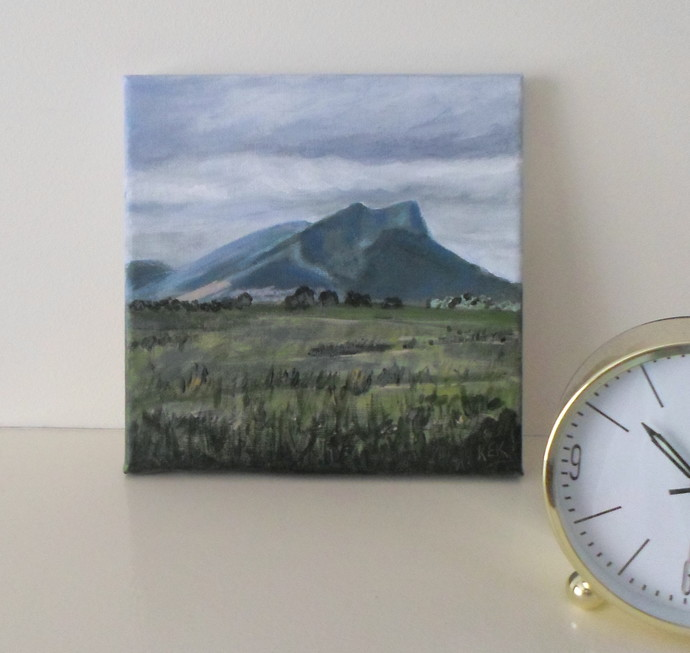 Painting of a Mountain Landscape in Australia, Unframed
