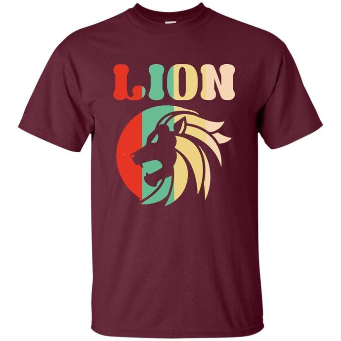 Retro Lion, Vintage Lion Men T-shirt, Retro Lion T-shirt, Retro T-shirt, Vintage