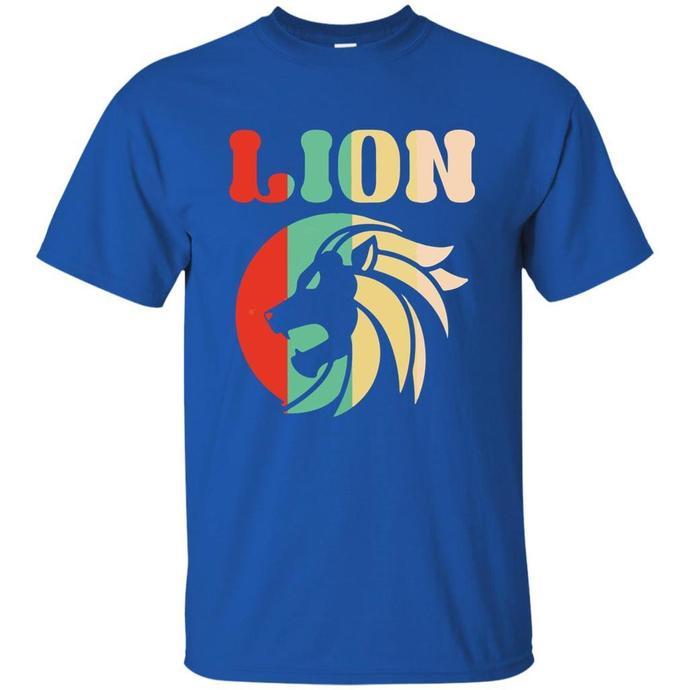 Retro Lion, Vintage Lion Men T-shirt, Retro Lion T-shirt, Retro T-shirt, Vintage