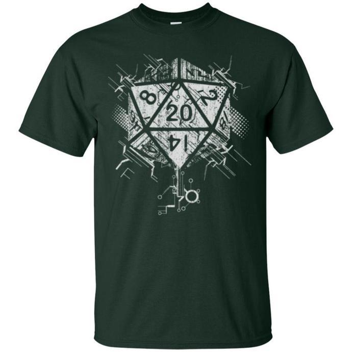 D20 Of Power Men T-shirt, Power Drill, D20 Of Power Tee, Power Men T-shirt, D20