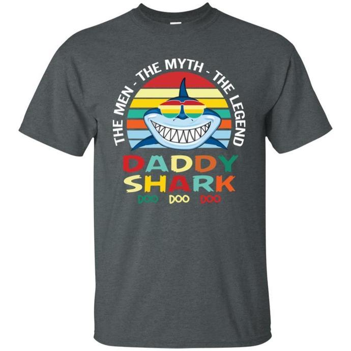 The Men, The Myth, The Legend, Daddy Shark Men T-shirt, Daddy Shark, The Men