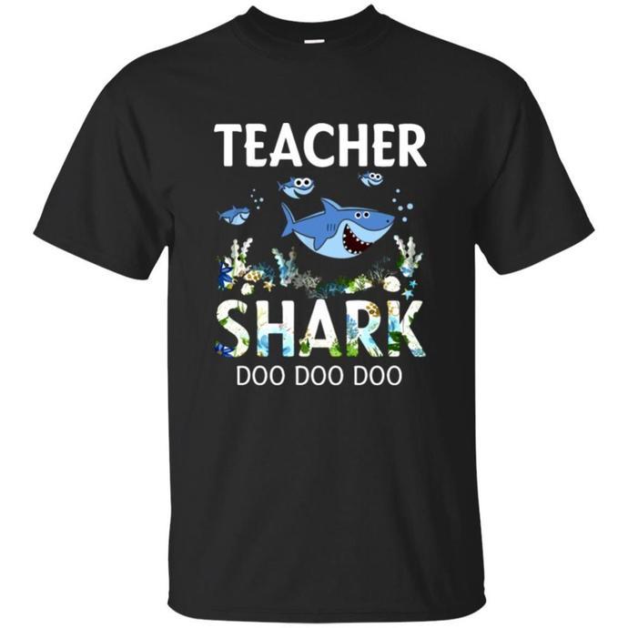 Teacher Shark Doo Doo Funny For Animals Teacher Men T-shirt, Teacher Shark Doo