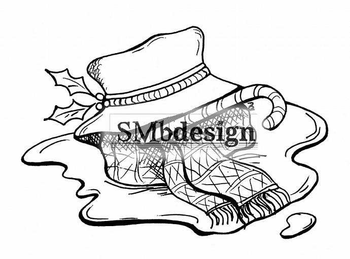 Melted Snowman Original DIGI Design