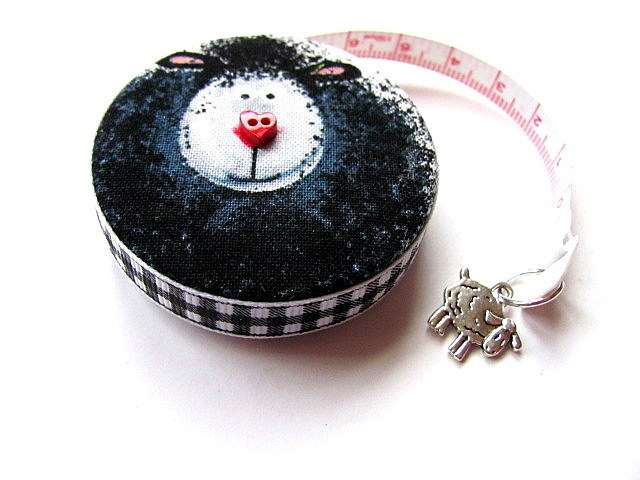 Tape Measure Love Black and White Sheep Retractable Measuring Tape