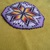 Native American Style Square Stitched Morning Star and Feathers Barrette in