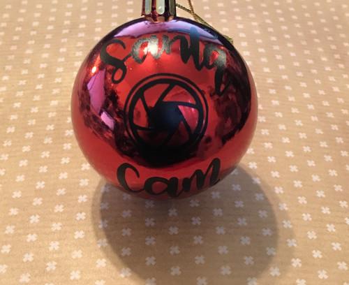 Ornament Size Santa Cam Vinyl Decal / Sticker / D.I.Y Project