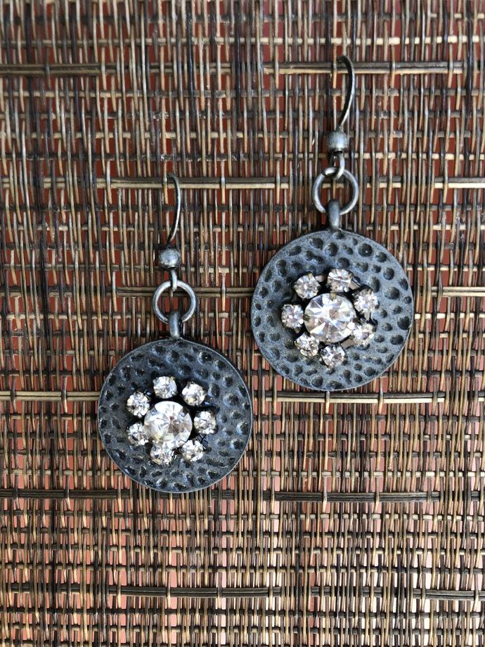 Industrial Rhinestone Earrings