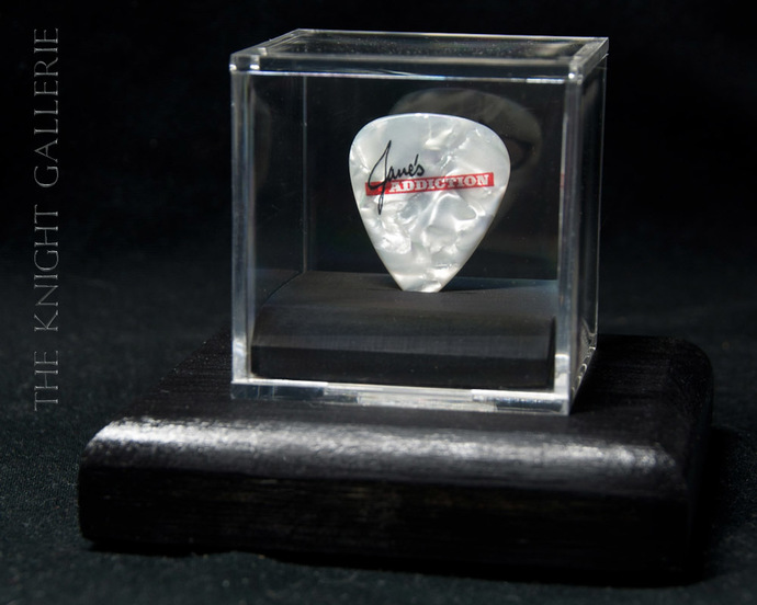 Commemorative guitar pick and display case: Jane's Addiction