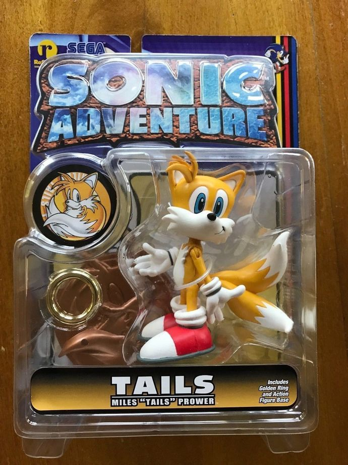 Sonic adventure resaurus Tails figure hedgehog toys series 1 vintage new custom