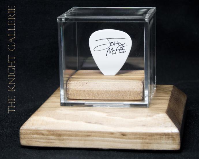 Authentic guitar pick and display case: Doobie Brothers / John McFee