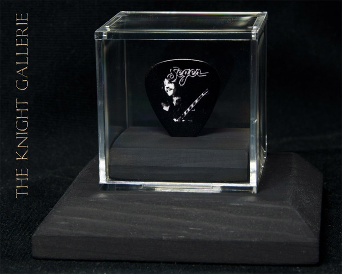 Commemorative guitar pick and display case: Bob Seger