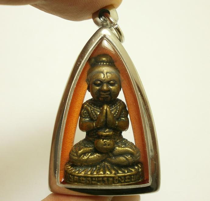 guman kuman thong boy chant lp Nane magic spirit thai amulet pendant good luck