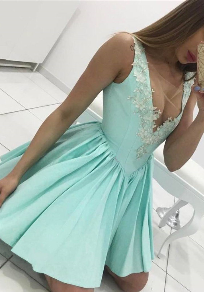 e7ea9cf8270b mint green homecoming dress