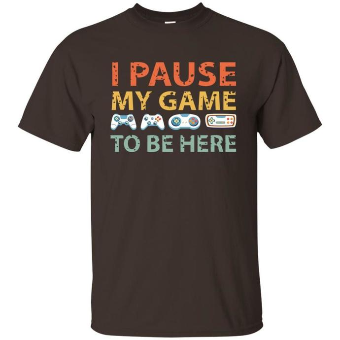 I Paused My Game To Be Here Men T-shirt, Vintage Gaming Men T-shirt, Gaming