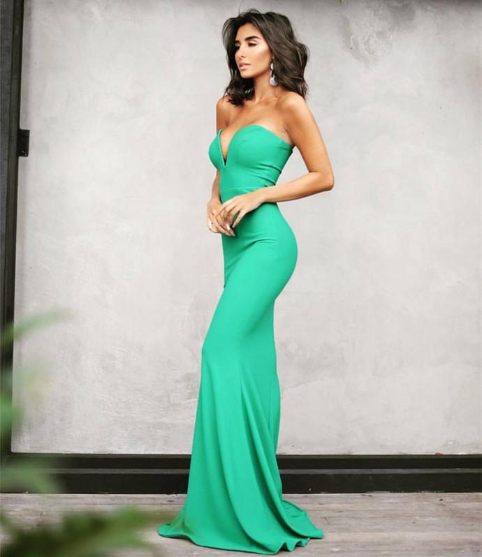 Mermaid Prom Dress,Hunter Green Prom Dress,Mermaid Evening Gowns S5959