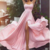 Sexy Chiffon Long Bridesmaid Dress Backless Party Dress Prom Dress Evening Dress