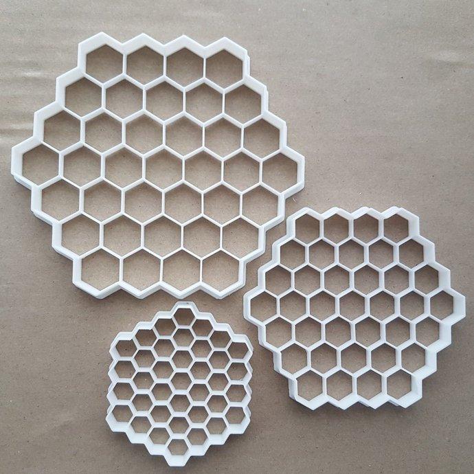Honey Comb Bee Hexagon Shape Cookie Cutter Dough Biscuit Pastry Fondant Sharp