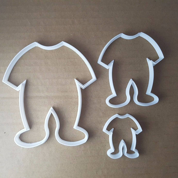 Baby Grow Bodysuit Shape Cookie Cutter Dough Biscuit Pastry Fondant Shower Sharp