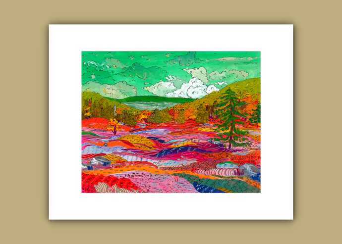 Blueberry Barrens Print
