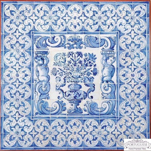 Custom Beautiful Tile Mural Kitchen Wall Backsplash Tiles ALBARRADA FLOWER VASE