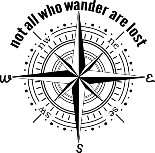 Not all who wonder are lost compass, faith love trust, God, Jesus, show me the