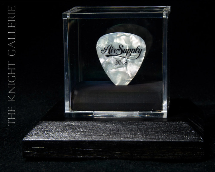 Commemorative guitar pick display ensemble: Air Supply / Graham Russell
