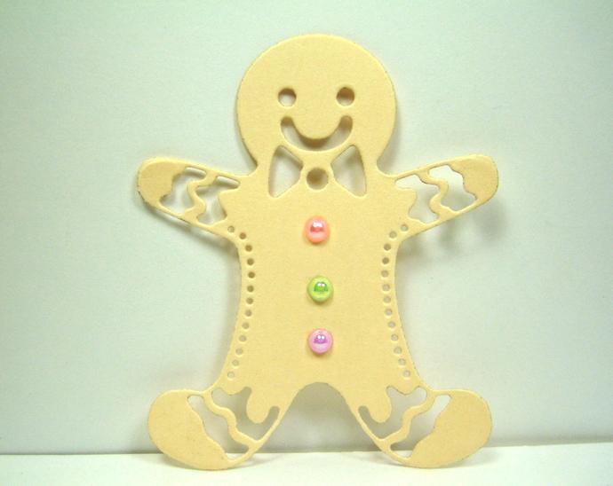 Gingerbread Boy Metal Cutting Die Card Making and Scrapbooking Dies