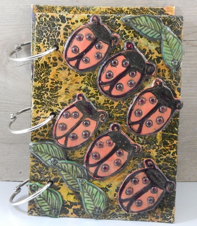Ladybug Journal - Refillable Blank Book - Sketch Book - Scrap Book - 4x6